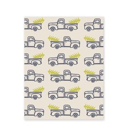 Belle and Union Trucks w/ Trees Gift Wrap
