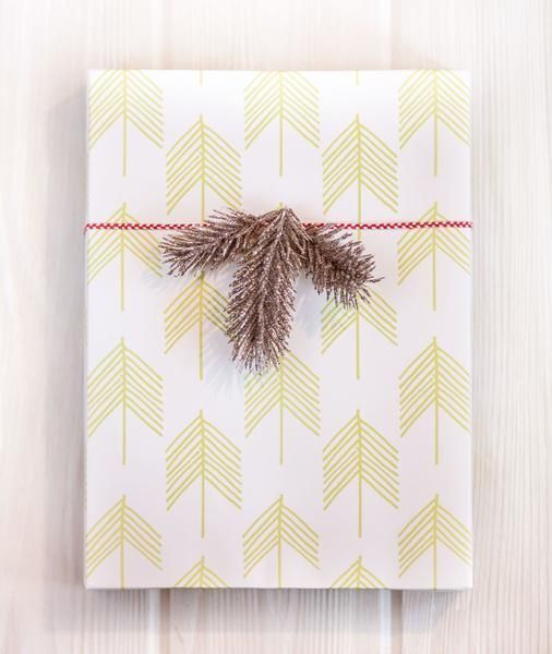 Belle and Union Chevron Trees Gift Wrap