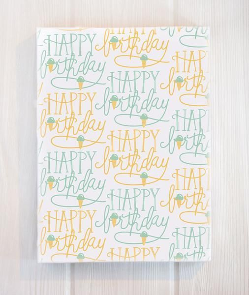Belle and Union Birthday Cones Gift Wrap