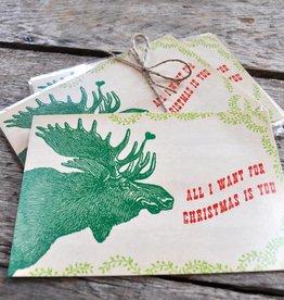 SugarBoo Designs Moose Postcard