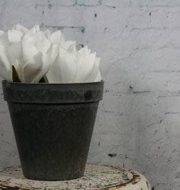 Eight Mood Culture Pot, Gray