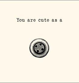SugarBoo Designs Cute As A Button Notecard