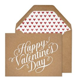 Sugar Paper Happy Valentine's Day, Kraft Card