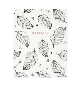 Eccolo White Leaves Notebook