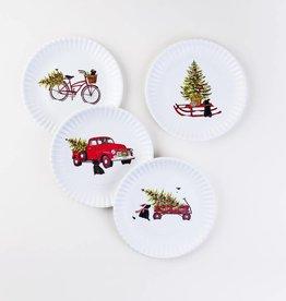"One Hundred 80 Degrees Christmas ""Paper"" Plate, Set/4"