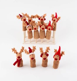One Hundred 80 Degrees Reindeer Finger Puppet