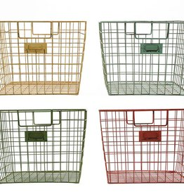 Creative Co-op Wire Locker Basket, 4 Colors