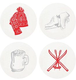 Haute Papier Coasters - Large Winter
