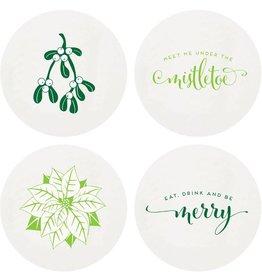 Haute Papier Coasters - Mistletoe