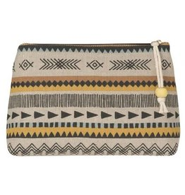Now Designs Saddle Up Linen Cosmetic Bag, Sm