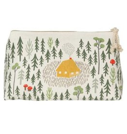 Now Designs Retreat Linen Cosmetic Bag, Lg