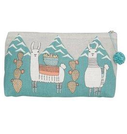 Now Designs Llamarama Cosmetic Bag, Large