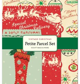 Cavallini Papers Vintage Christmas Petite Parcel Set Gift Bags, Tags, & Stickers