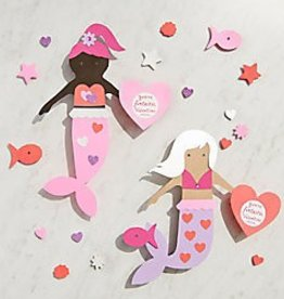 Waste Not Paper Mermaid Vday Card Kit