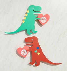 Waste Not Paper Dino-Mite Vday Card Kit