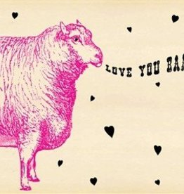 SugarBoo Designs Love You Baaaad Postcard