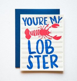9th Letter Press You're My Lobster Print