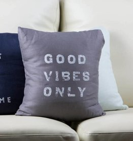 Casa & Co. Good Vibes Only Pillow, Charcoal