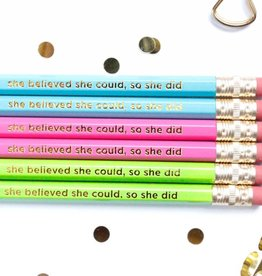 Taylor Elliott She Believed She Could Pencils