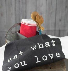 Bloomingville Cotton Kitchen Towel - Love