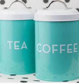 Now Designs Turquoise Coffee Tin