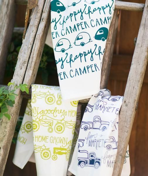 Belle and Union Happy Camper Tea Towel