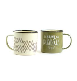 1Canoe2 Campfire Mugs, Set/2
