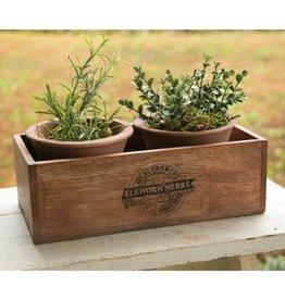CTW Home Elkhorn Herb Planter w/2 pots