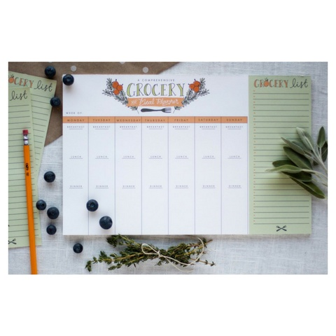 9th Letter Press Grocery & Meal Planner Pad
