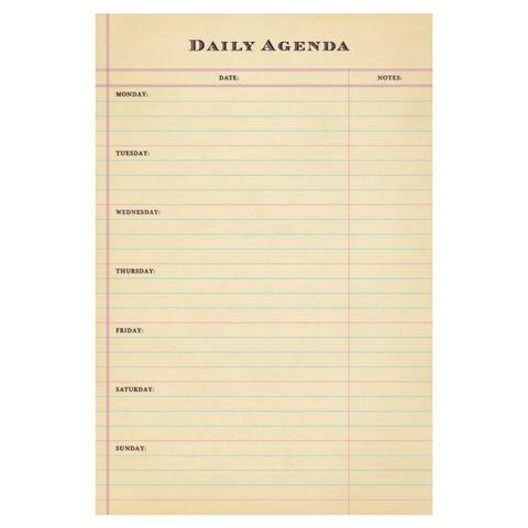 SugarBoo Designs Daily Agenda - Typo Market