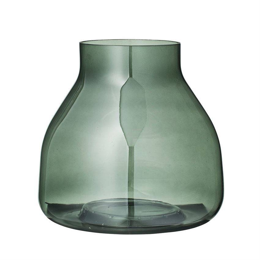 Bloomingville Green Glass Vase Typo Market
