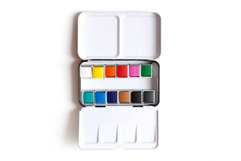 1Canoe2 Watercolor Paint Tin & Brush
