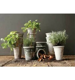 Creative Co-op Distressed Clay Pot, Large