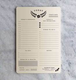Favorite Story Daily Planner Notepad