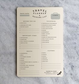 Favorite Story Travel Planner Notepad