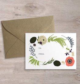 Favorite Story Floral Enclosure Cards, Set of 12