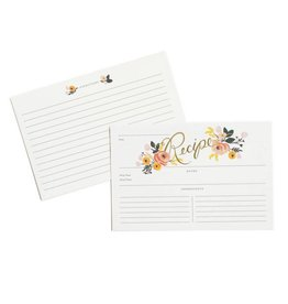 Rifle Paper Peony Recipe Cards, Pack/12