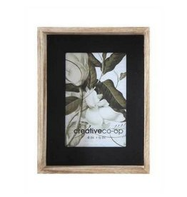 Creative Co-op Wood Photo Frame, 4 x 6