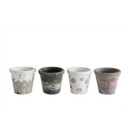 Creative Co-op Distressed Clay Pot, Small