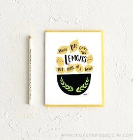 Nicole Marie Paperie Lemons