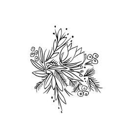 Typo Flowers, B&W #1