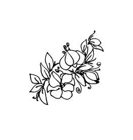 Typo Flowers, B&W #2
