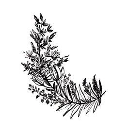 Typo Flowers, B&W #3