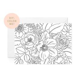 Paper Raven Co. DIY Floral Coloring Card