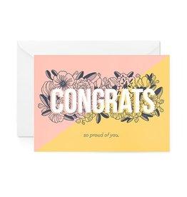 Paper Raven Co. Floral Congrats