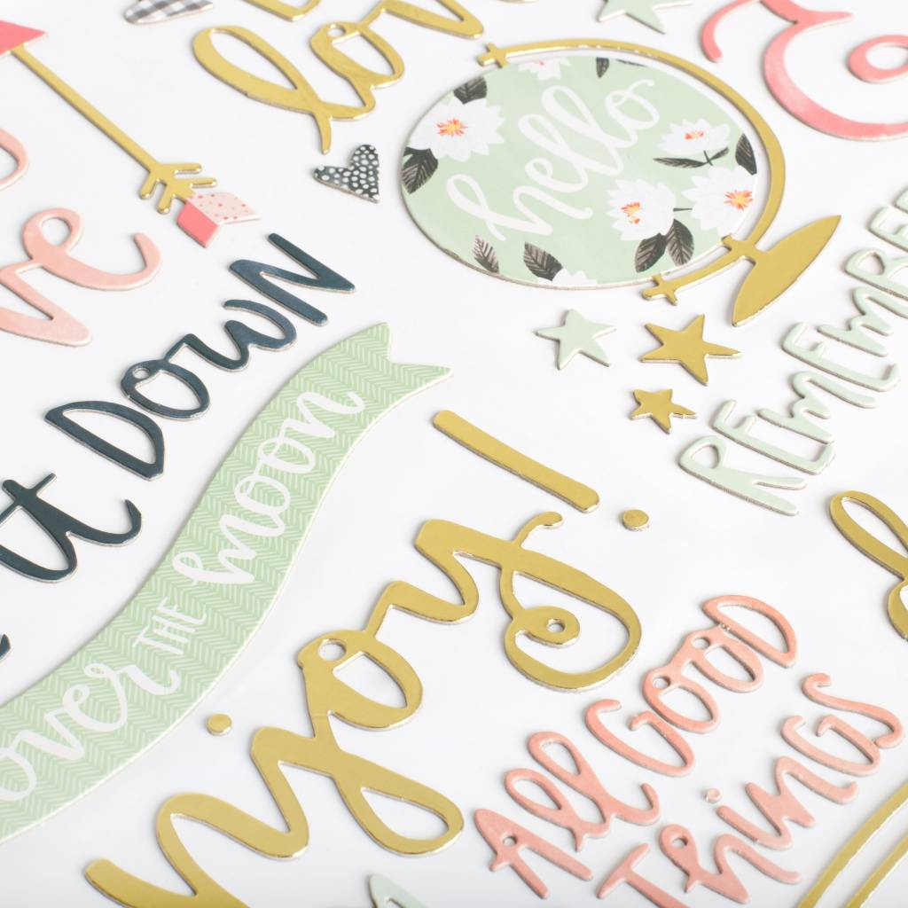 American Crafts Chipboard Darling Stickers