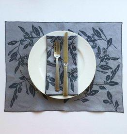 Bonnie Kaye Studio Eucalyptus  Linen Napkin/Placemat - Gray