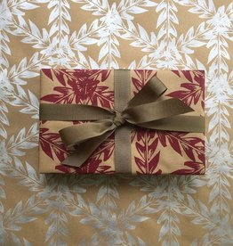 Bonnie Kaye Studio Botanical Gift Wrap, Berry Red