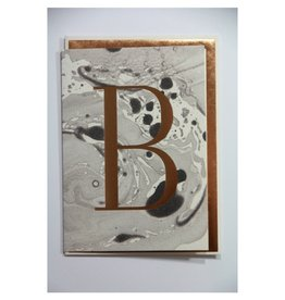 Katie Leamon Marbled Alphabet Card - B