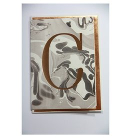 Katie Leamon Marbled Alphabet Card - C